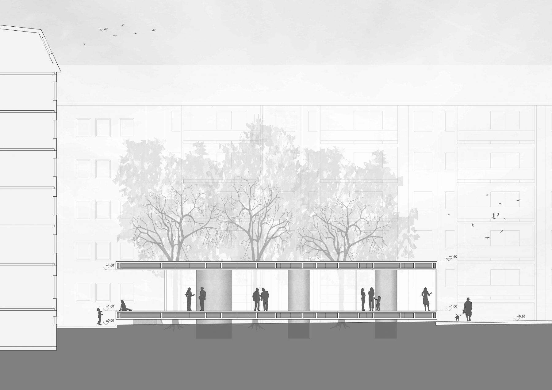 Pavillon am rosa luxemburg platz bundschuh architekten - Architekten luxemburg ...